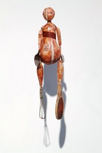 Whisk, mixed media and found objects, by Nicole Havekost.