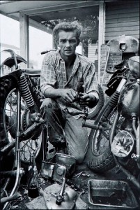 Danny Lyon (American, born 1942), My Triumph, broken gearbox spring, New Orleans, 1964, printed 2006, Silver gelatin print, Des Moines Art Center Permanent Collections; Gift of Jeff Perry in honor of Myron and Jacqueline Blank, 2009.129, Photo by Rich Sanders, Des Moines.