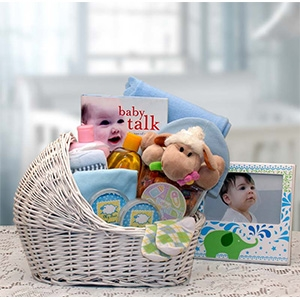 Newborn Baby Blue Bassinet Gift Collection New Baby Gift