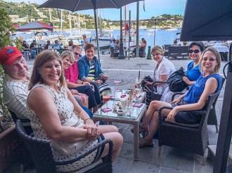Pre dinner libation along the harbor