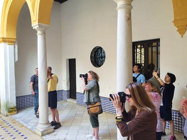 Shooting in the Alcazar in Seville