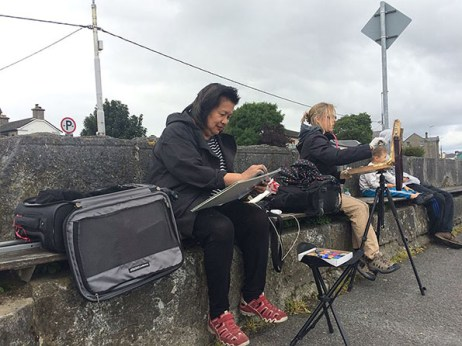 Painting in Galway