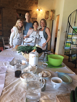 Cooking lesson at the villa