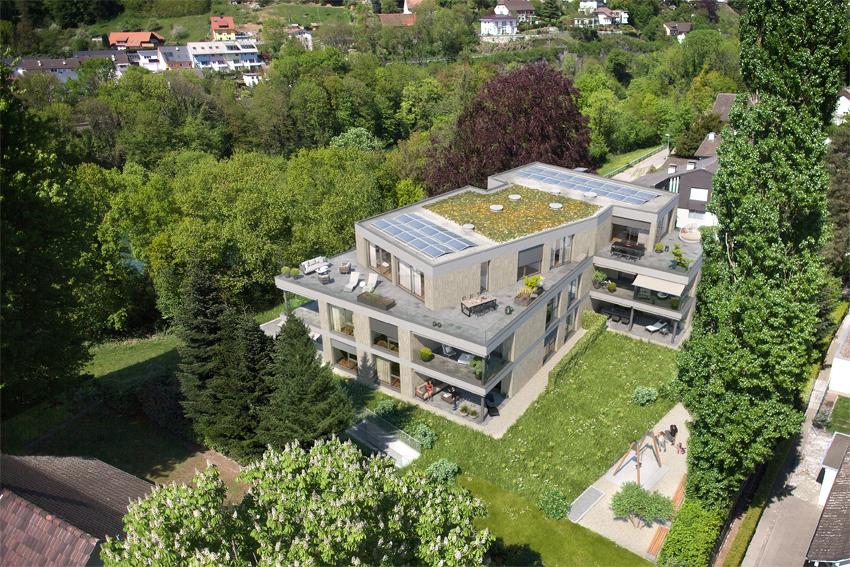 Luxus-Wohnungen im Villenpark direkt am grünen Ufergürtel des Rheins
