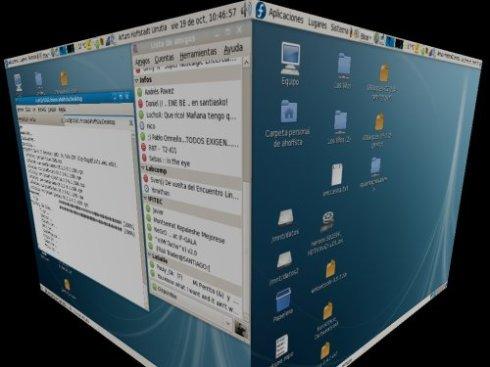 Escritorio 3D con Compiz en Fedora 8