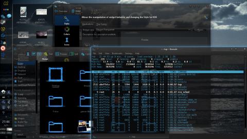 KDE y estilo de widgets oxygen-transparent