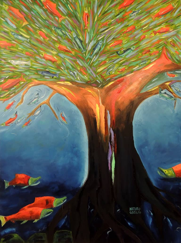 """The Burst of Life. Oil. 48""""X36"""". Available."""