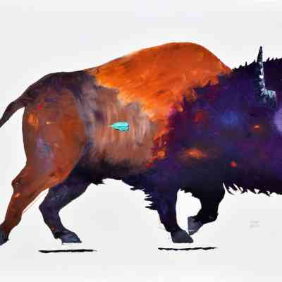 "Tatanka! Oil. 36·X48"" Available."