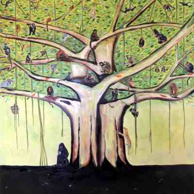 "Family Tree. Oil. 48""X48"". Available."