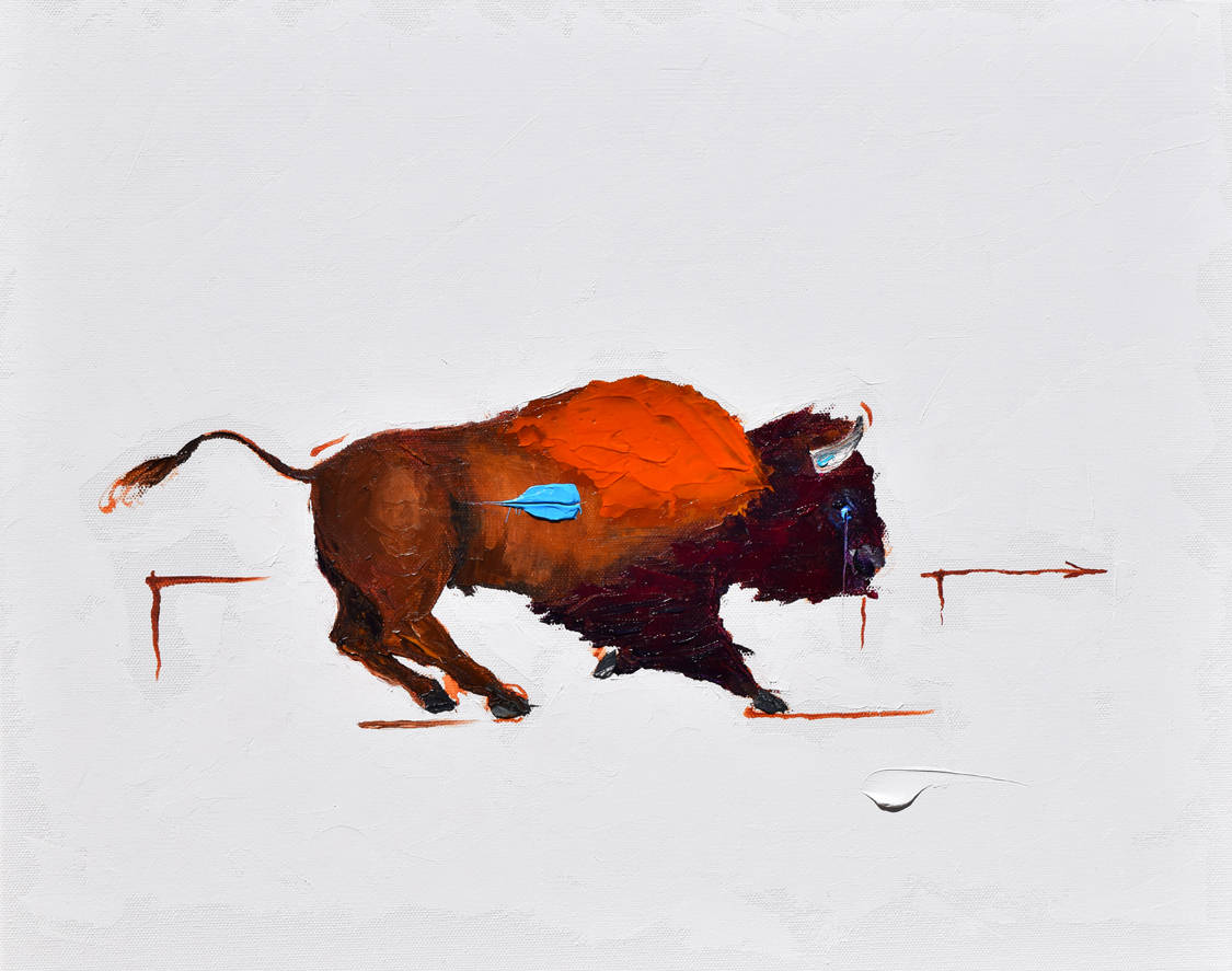 """Greeley Buff. Oil. 16""""X20"""". Available."""