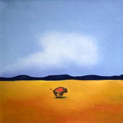 """Lone Ranger. Oil. 24""""X24"""". SOLD"""