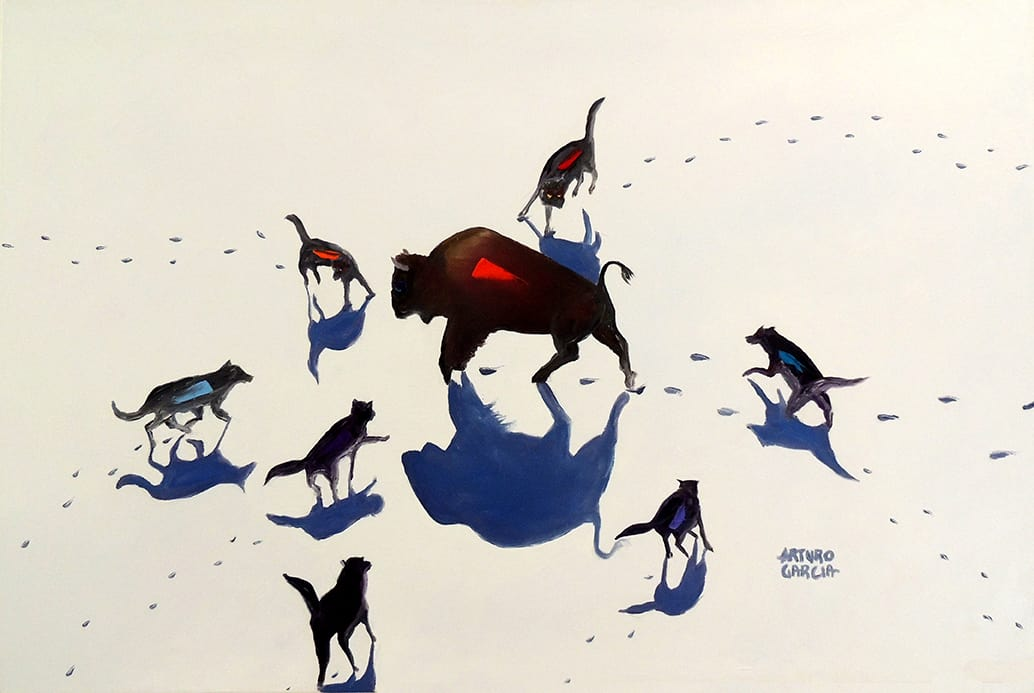 """Against All Odds. Oil. 24""""X36"""" Not Available for Sale."""