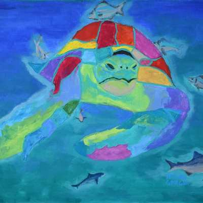 "Caretta Caretta. Oil. 24""X30"". Available."