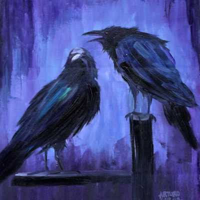 "Night Watchers. Oil. 20""X16"" Original Available."