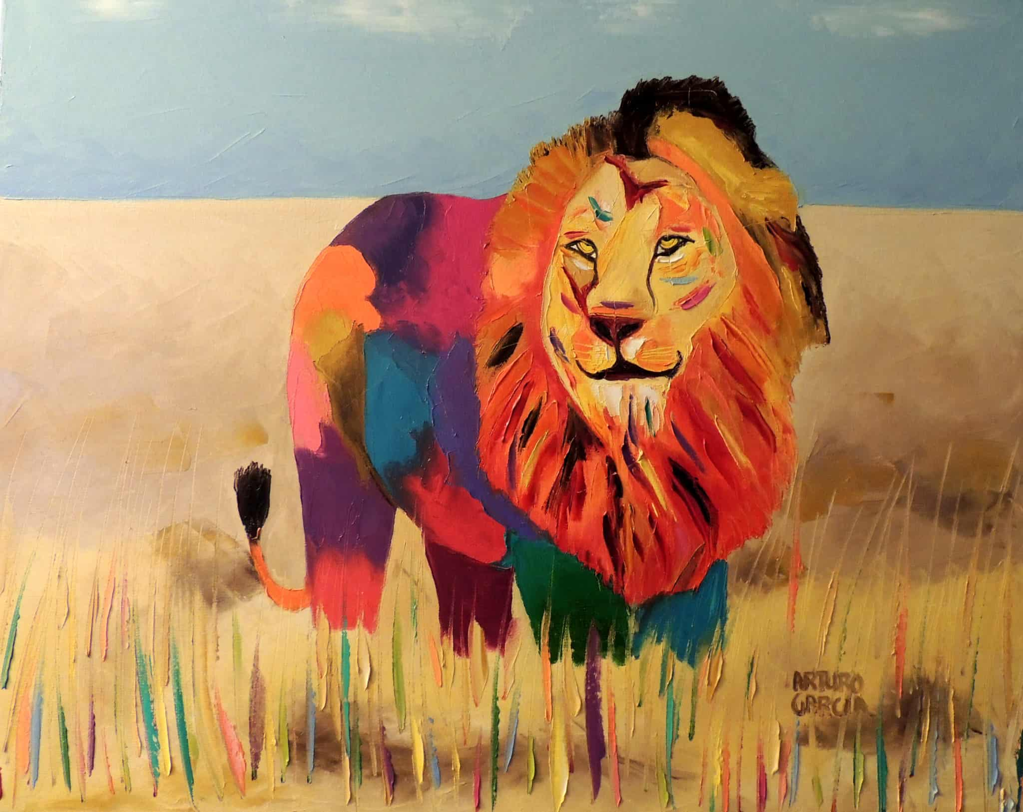 "King of the Jungle. Oil. 24""X30"". Original SOLD."