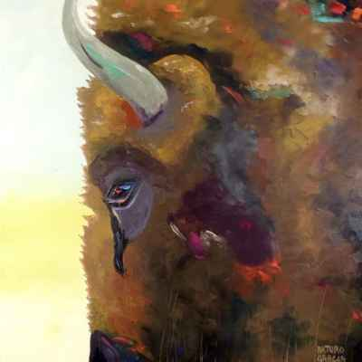 "Tatanka. Oil. 40""X30"". SOLD."