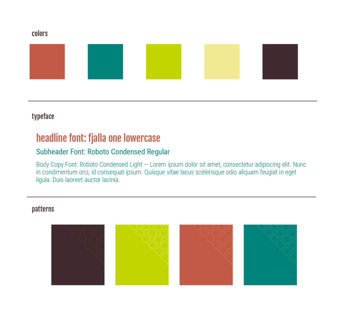 Square One Salon Brand Guide Elements