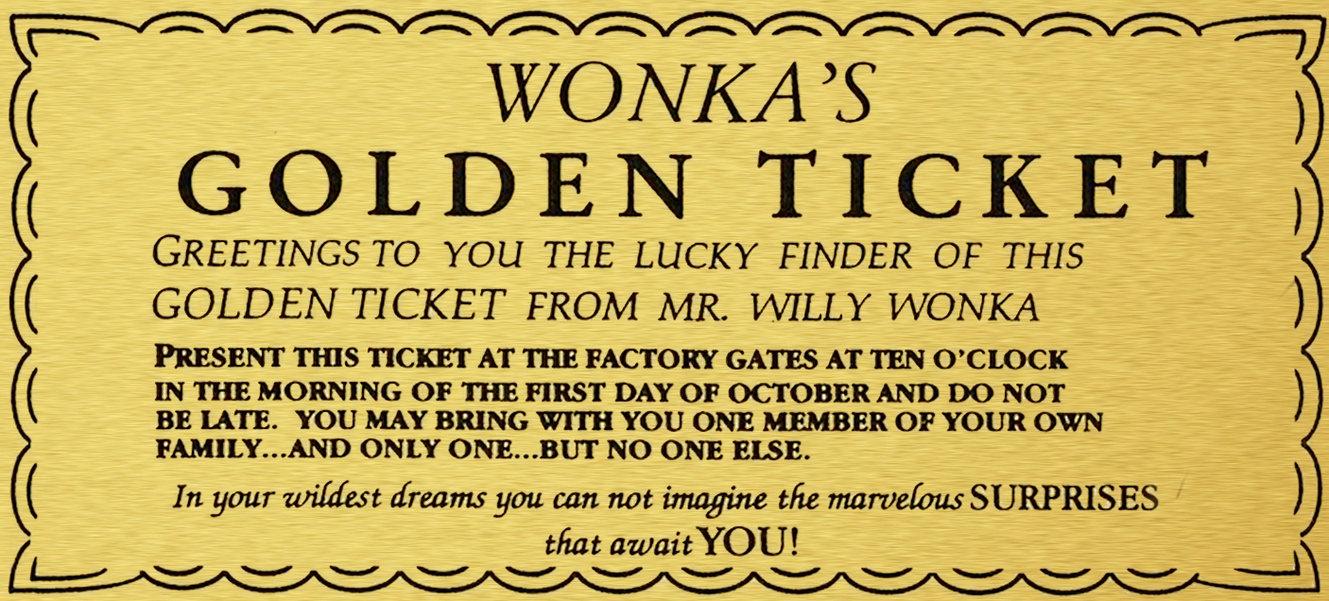 Originalfilmgoldenticketbysonatamarticadkoxcm ARTventurers - Event ticket template free download word