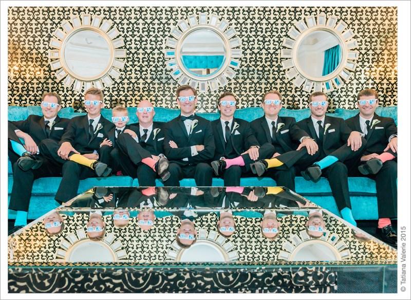 Carlton Hotel groom and groomsmen