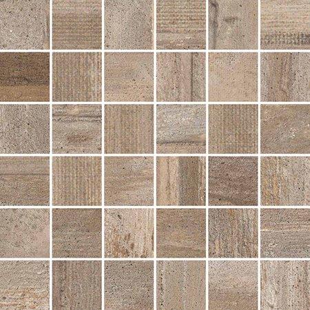 allegria wood look mosaic tile 2 x 2 noce