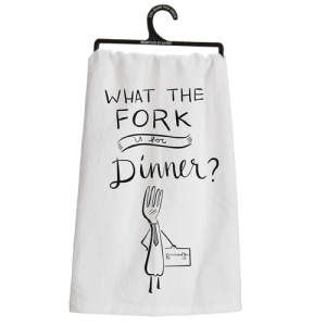 What the Fork is for Dinner Dish Towel