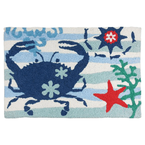 Blue Crab Starfish Jellybean Rug