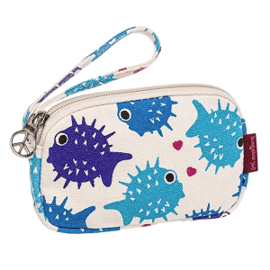 Puffer Fish Bungalow 360 Clutch Coin Purse