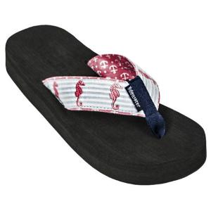 Pink Seahorse Flip Flops