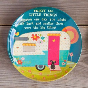 Little Things Happy Camper Giving Plate