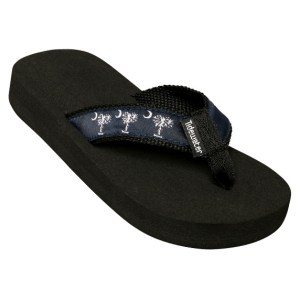Kids Navy Palmetto Flip Flops