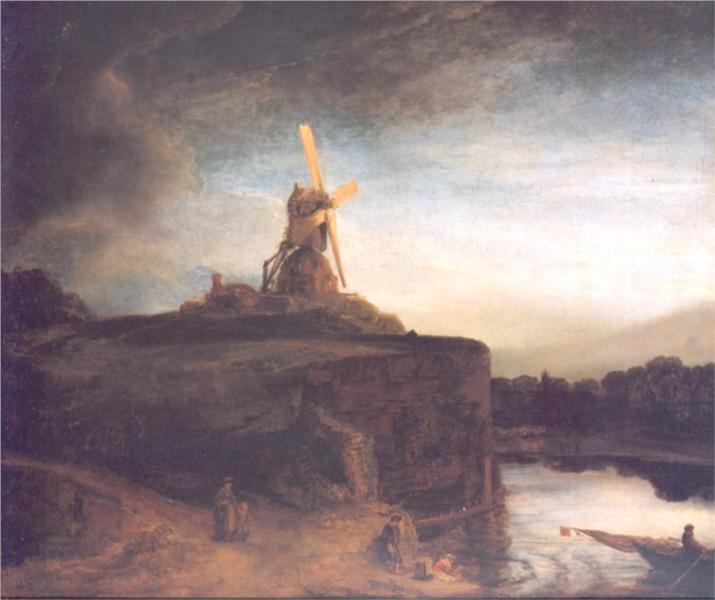 Rembrandt_the-mill_windmills_in_dutch_art-windmills at zaanse schans