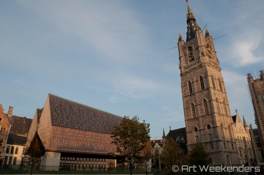 Belgium-Ghent-Belfry-city-pavillion