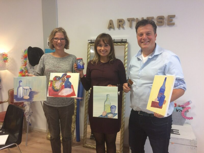Workshop met ei-tempera schilderen