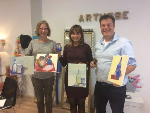 Workshop met ei-tempera schilderen