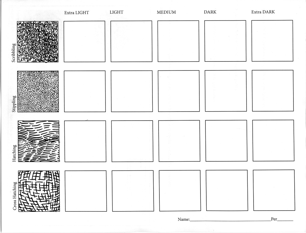 Ink Value Drawing Worksheet Two