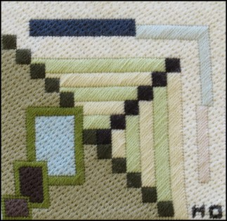 Mark Olshansky abstract needlepoint Mini 11