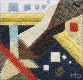 Mark Olshansky abstract needlepoint Mini 16