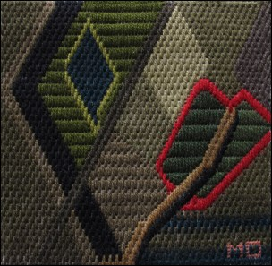 Mark Olshansky abstract needlepoint Fall Mini 7