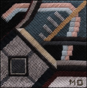 Mark Olshansky abstract needlepoint Fall Mini 8