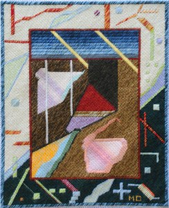 Mark Olshansky abstract needlepoint Sub Med