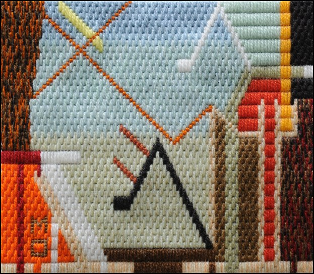 Mark Olshansky abstract needlepoint A Minor Schubert