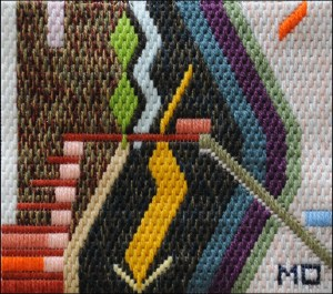 Mark Olshansky abstract needlepoint G Minor Mozart