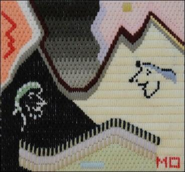 Mark Olshansky abstract needlepoint Medallions of Zeal