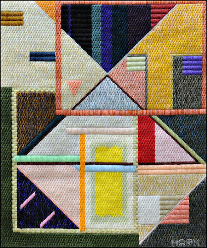 Mark Olshansky abstract needlepoint The Glow Inside
