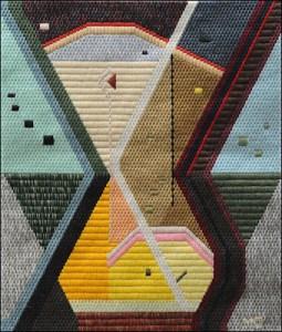 Mark Olshansky abstract needlepoint Gumbo Chricken Pox
