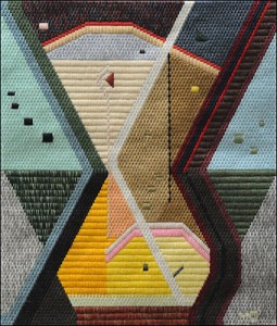 Mark Olshansky abstract needlepoint Gumbo Chricken Pox