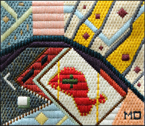 Mark Olshansky Abstract Needlepoint Prison Cutlet