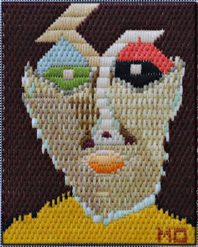 Mark Olshansky abstract needlepoint Kitchen Eyes