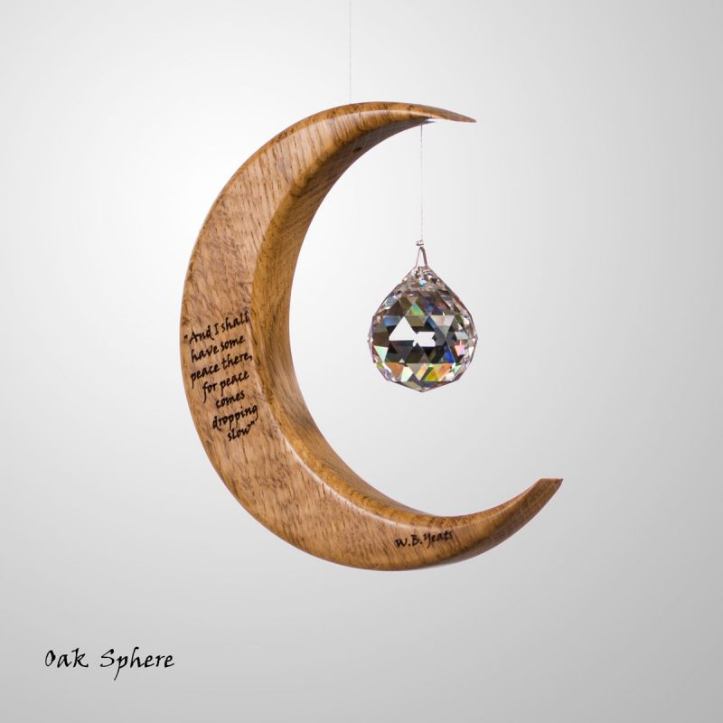 Medium Moon W.B. Yeats Suncatcher