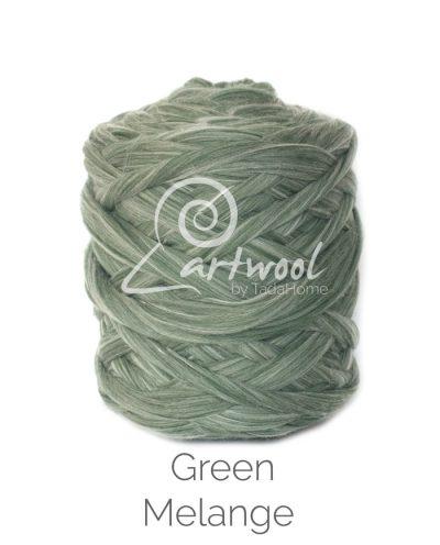 green melange Merino Wool Chunky Yarn
